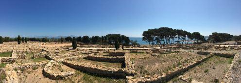 Panorámica de sitio arqueológico Ampurias|Adriana Santiago