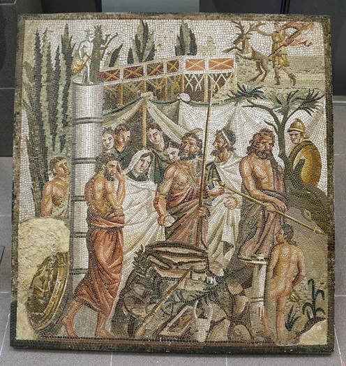 Mosaico de Ifigenia|María Antonieta García